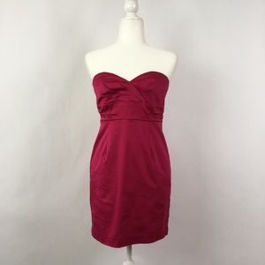 Twenty One Strapless Hot Pink Dress M